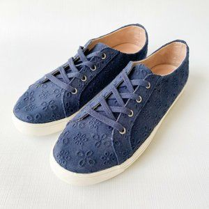 Jack Rogers Women's LACE UP EYELET SNEAKERS Midnig